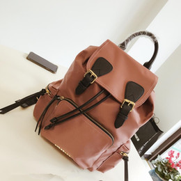 Soft backpackS online shopping - New brand backpack designer backpack handbag high quality two color stitching backpack school bags outdoor bag