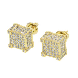 China geometric micro pave cz screwback earring for girl women men boy lab diamond hiphop clear cz sparking bling screwback studs ear jewelry cheap jewelry for flower girls suppliers