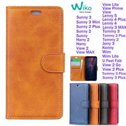 cards slots NZ - Luxury Retro PU Leather Wallet Case For WIKO Sunny 3 Plus Harry 2 View 2 Go Lenny5 Tommy3 Sunset Wim Kenny Flip Card Slots With Stand Cover