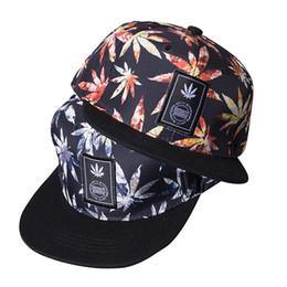 61684b527f8 Maple Hats UK - 15PCS LOT SINGYOU Maple Leaf Printted Cap Korea Style Men  Women Couple