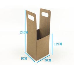 $enCountryForm.capitalKeyWord NZ - Disposable Cup Holder Takeaway Packed Coffee Tea Kraft Paper Cup Holder Portable Beverage Packaging Box QW8774