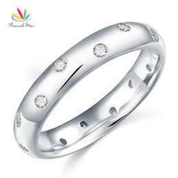 star 5.5 NZ - Peacock Star Solid 925 Sterling Silver Bridal Wedding Band Ring Jewelry CFR8060 Y1891205