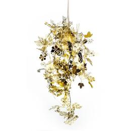 Tangled Lights UK - Garland Tangle Pendant Lights Suspension Gold Silver Metal Strand Pendant Lamp For Living Room Bar Lighting Fixtures PL88