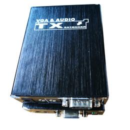 300м VGA к Cat5/6 адаптер VGA и аудио TransmitterReceiver над Cat5 с одним локальным выходом на Распродаже