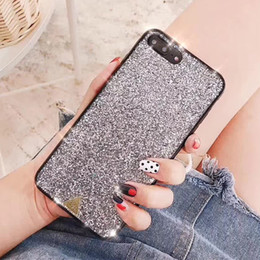 bling phone designs NZ - Hot New Design INS Luxury Bling Shiny Sequin Mobile Phone Case for Iphone X 6 7 8 Plus Protect Back Cover Shell