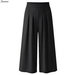55ec49370f3 ANASUNMOON Summer Autumn Plus Size Women Casual Loose Cotton Linen Pants  Wide Leg Stretch Trouser Vintage Pants Female Clothing Y1891705