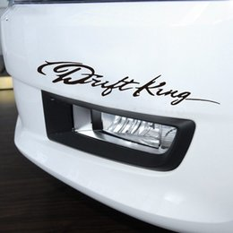 anime car stickers 2019 - 1PC 28.2*5CM Drift King Cool Words Good Driving Skills Car Styling Anime Motorcycle Car Stickers And Decals Exterior Acc