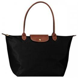 China Brand New Handbags Women Fashion Oxford Shoulder Bags Lady Large Waterproof Nylon Female Handbag Black Orange Color Woman Bag suppliers