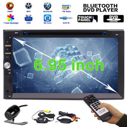 "rear touch screen Canada - Upgarde Version 6.95"" Double 2 DIN Electronics pc Car DVD CD 1080p Video Player Bluetooth Digital Touch Screen Car Stereo Radio HeadUnit"