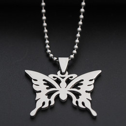 Necklaces Pendants Australia - 30 stainless steel hollow butterfly charm necklace animal insect butterfly bee necklace butterfly effect pendant charm necklace jewelry