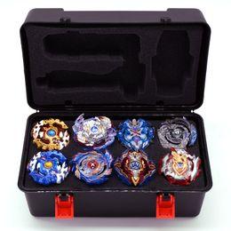 8 unids / set Hot Beyblade Bursts Caja de almacenamiento Bey Blade Venta de juguetes Toupie Bayblade Series Arena Metal Fusion Launcher Spinning Top Toys
