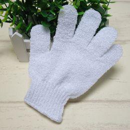$enCountryForm.capitalKeyWord Canada - Color white Exfoliating 100% Nylon Bath Glove Five fingers Bath Gloves