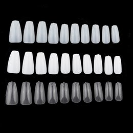 China 100Pcs box Ballerina False Nails 3D Long Nails Art Tips Coffin Shape Acrylic Full Cover Fake Artificial Plastic Manicure cheap 3d false nails suppliers