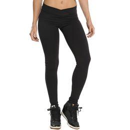 c657b3b64459f5 Solid Fold Hip Yoga pants Sports tight pants Women Hight Waist Yoga Fitness  Leggings Running Gym Stretch Sports Trouser#10