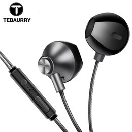 $enCountryForm.capitalKeyWord UK - 2018TEBAURRY Metal Phone Earphones Half In-ear Earphone with Microphone Bass Headset Earbuds for iphone Xiaomi kualkik ecouteur