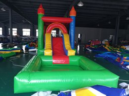 Pool Toy Ship Australia - inflatable castle bouncer trampoline jumping house slide with ball pool for kids free shipping