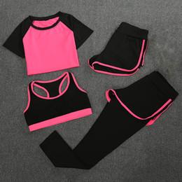 4 pcs novo yoga roupas terno de fitness das mulheres correndo rápido lazer seco sportswear senhora yoga roupas de fitness em execução treino venda por atacado