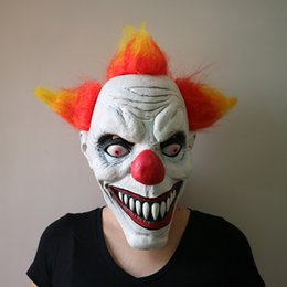 Full Face Clown Mask Australia - Creepy Halloween Killer Clown Scary Mask Horror Masquerade Cosplay Emoji Party Full Face Masks Festival Costume Adult Ghost Mask