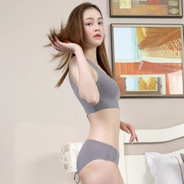 Wholesale Japanese underwear women suit without steel bra to gather shockproof bra one piece seamless vest sports underwear summer