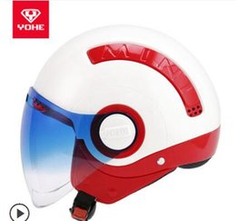 Yohe Half Helmets Australia - YOHE YH mini-A helmet electric motorcycle car men and women half helmet winter personality cool cold