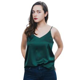 04dce8abd0d88e Red Silk Tank UK - 2018 Summer Crop Top Women Camis Silk Satin Halter Tank  Top