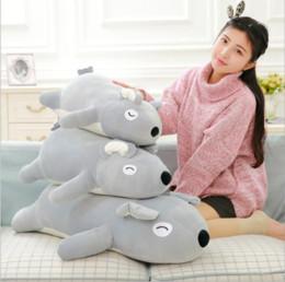 Discount feeling toys - High quality doll birthday gift plush toys 60-90cm stuffed Down cotton Soft pillow grey koala doll feel super comfortabl