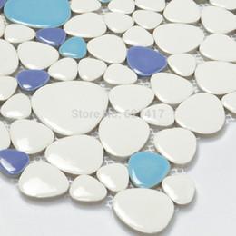 $enCountryForm.capitalKeyWord NZ - four color multicolor ceramic porcelain mosaic tiles backsplash HMCM1022 pebble kitchen wall tile sticker bathroom floor tiles