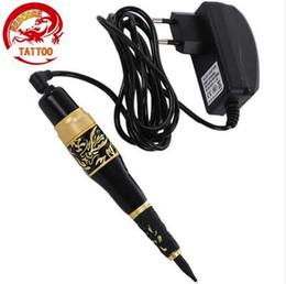 Make Permanent Tattoo Pen Australia - Professional Eyebrow Tattoo Pen Permanent Makeup Eyebrow Eyeline Lip Liner Tattoo Machine Make Up Kit EU Plug