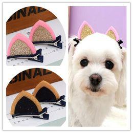 $enCountryForm.capitalKeyWord Australia - 2018 new Pet Headwear Hair Accessories Dog Hair Clips Cat Ear Hairpin Top Clip Card Grooming Hair Bows