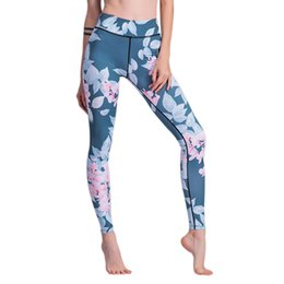 $enCountryForm.capitalKeyWord NZ - Women Yoga Pants Floral Print High Waist Leggings Sexy Female Sport Clothing Hip Push Up Leggings Workout Sportswear Breathable
