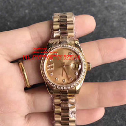 gold luxury watches swiss eta Canada - 8 Style Luxury Top Quality Ladies 26mm Datejust President Two Tone Gold Diamond Dial Swiss ETA 2824 Movement Automatic Watch Women's Watches