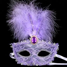 $enCountryForm.capitalKeyWord Australia - 2017 New Party Masks Masquerade Masks Halloween Christmas Feather Mask Fashion Women Sexy Half Face Masked EJ366131