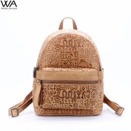 $enCountryForm.capitalKeyWord NZ - Walk Arrive Genuine Leather Women Backpack Oracle Embossed Cow Leather Vintage School Bag Fashion Travel Bag Special Design