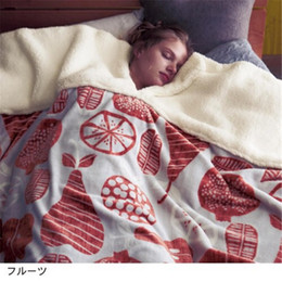 Body Suits Adults Australia - Coral fleece blanket throw thick soft warm comfortable skin-friendly blanket throw with U-shaped notch to suit the body
