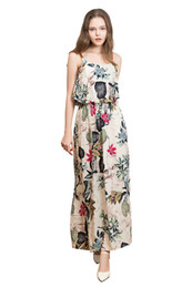 para mujer de los trajes calientes al por mayor-Mujeres Ladies Summer Floral Party Holiday Beach Sundress Vestido largo Vestido de verano Vestidos Mujeres Dress Elbise Robe Femme HOT