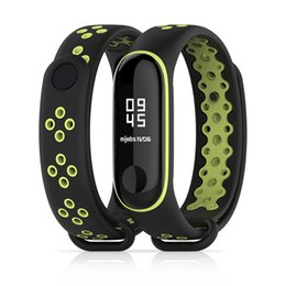Wholesale Sports silicone Strap for Xiaomi Mi Band Replacement Bracelet Wristband Mi band Fashion new two tone Smartwatch Accessories