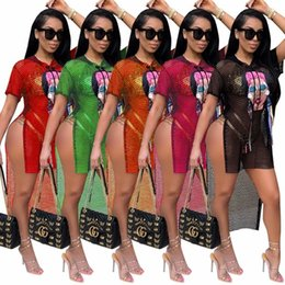 $enCountryForm.capitalKeyWord Canada - Plus Size S-3XL Grid Dress Swallow Tails Beach Summer Dress Ice Cream Eyes Girl Print Women Hooded Short Sleeve Hi-Lo Club Dresses