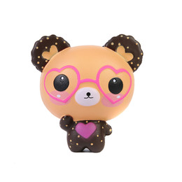 China Jumbo Kawaii Glasses Bear Squishy Slow Rising Venting Toy Cute Animal Shape Squishies Decompression Toys Hot Sale 18mz C cheap blocks shapes toys suppliers
