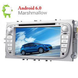 ford car dvd dash Canada - Android Quad Core 7'' Car Stereo Touch Screen Double Din GPS CAR DVD Player for Ford Focus In Dash Navigation Headunit Radio Bluetooth