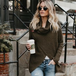 Xl Cardigans NZ - SVOKOR Solid Turtleneck Sweaters Women Plus Size Cardigans Casual Keep Warm Long Women Knitted Sweaters 5 Colour S-XL