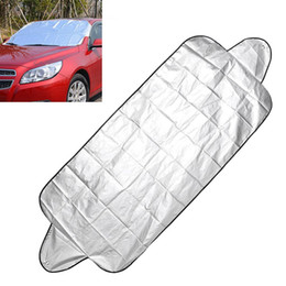 Front End Car UK - Anti Snow Frost Ice Shield Car Windshield Shade Car Windscreen Cover 150*70cm Dust Protector Front Window Screen Auto Sun Cover