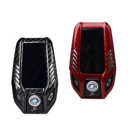 Key Shell Case For Bmw Australia - Carbon Fiber Smart Car GT LCD screen Key Case Cover Auto Key Protection Shell for BMW 7 6 5 Series X3 730li 740