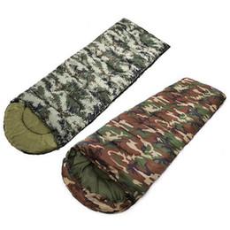 Discount down envelope sleeping bags - 1000G 1300G 1600G Outdoor Hiking Hunting Down Warm Sleeping Bag Camouflage Single Envelope Sleep Bag