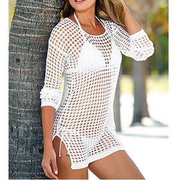 $enCountryForm.capitalKeyWord NZ - Sexy Beach Cover up Backless Crochet Swimwear Dress Tunics for Beach Women Beachwear CoverupsBeach Pareo coverup Women Beach Swimsuit Cover