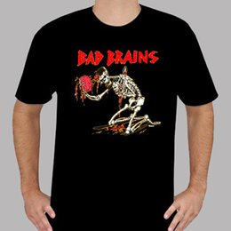 $enCountryForm.capitalKeyWord NZ - 2018 Short Sleeve Cotton T Shirts Man Clothing New Bad Brains Skeleton Punk Rock Band Legend Men's Black T-Shirt Size S to 3XL