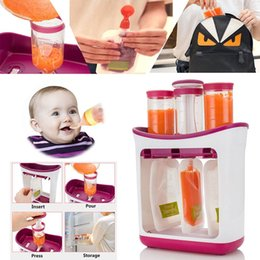 Wholesale Fresh Squeezed Squeeze Station Baby Weaning Food Puree Reusable Pouches Maker New Arrival High Quality