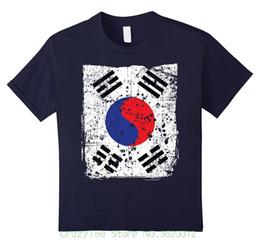 ff7e4134 Tshirt Summer Style Fashion Men T Shirts Faded Korean Flag , Distressed Flag  Of Korea T-shirt