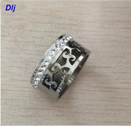 vine rings Canada - 2018 new vintage Women Crystal Rings Wholesale silver-Color hollow vine Stainless Steel Wedding Rings For Women