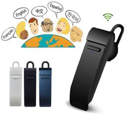 PEIKO Traduz Bluetooth Microfone Fone de Ouvido Armação de Metal Esporte Estéreo Suporte Para Ouvido 16 Idiomas Tradutor Imediato Fone De Ouvido Sem Fio em Promoção