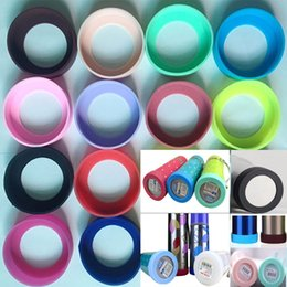 Silicone mug coverS online shopping - Silicone Protective Sleeve Cover Cap For Vacuum Insulated Stainless Steel Travel Mug Tumbler Water Bottle Anti Slip Bottom Mats HH7